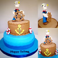 Popeye Cake   Popeye the sailor man cake