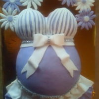 Pregnant Belly Cake chocolate cake