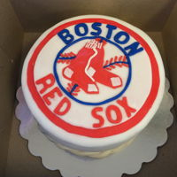 Red Sox Cake   Red Sox cake with team logo