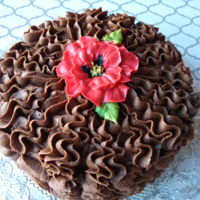 Ruffled Cake With A Variety Of Flowers (Multiple Pics) This was a fun idea, and one that is almost infinitely variable! Here's a video showing how I made these: