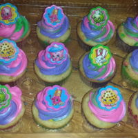 Shopkins Cupcake Shopkin cupcake with pink, green and purple buttercream