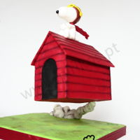 "Snoopy Flying House Takeoff at last!!Snoopy once again lifts up in it's ""dreams"" ! :)3 Kg Pineapple cake on the house.About 35cm..."