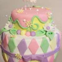 Spring Cake spring themed colors