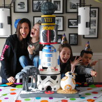 Star Wars Cake Family A Star Wars cake I've made for my son birthday :)