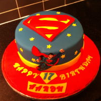 Superman Cake   superman birthday cake with hand painted superman