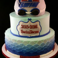 Swim Team Buttercream with fondant décor.