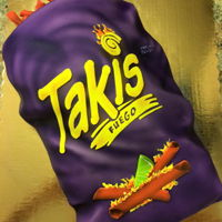 Takis Cake For my oldest's birthday. He loves Takis. I personally cant stand them...way to HOT!