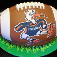 University Of Miami Football Cake University of Miami College Football Cake. This one flew all the way from NY to FL!