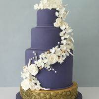 Violet Wedding Cake   Purple/Violet Wedding Cake :)