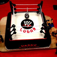 Wwe Cake Wrestling ring cake, my son's 6th
