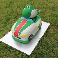 Yoshi Car Cake Yoshi Car Cake - if you would like to see how I made this cake please check out the video at