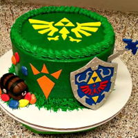 Zelda Birthday Cake Buttercream Cake decorated for Zelda Video game for a birthday party