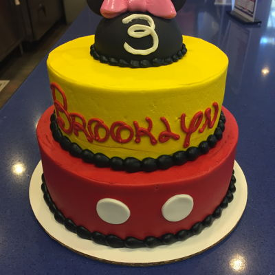 Minnie And Mickey Mouse Stacked Birthday Cake on Cake Central