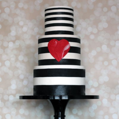 Striped Valentine Cake