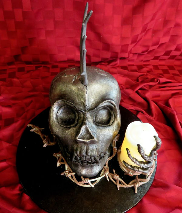 Punk Rock Skull Birthday Cake