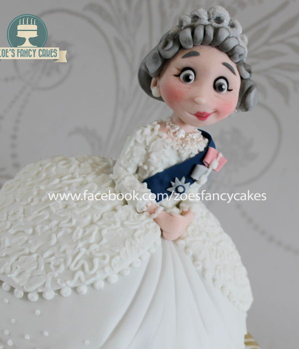 Queen Elizabeth Doll Cake