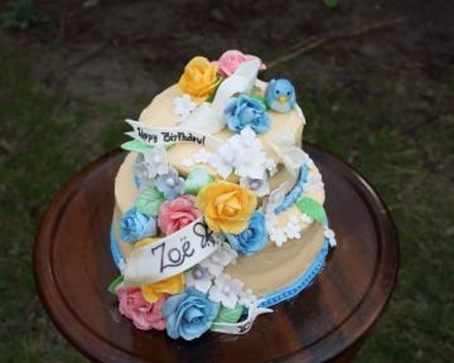 A Cinderella Wedding Gown Inspired Birthday Cake For Zoe