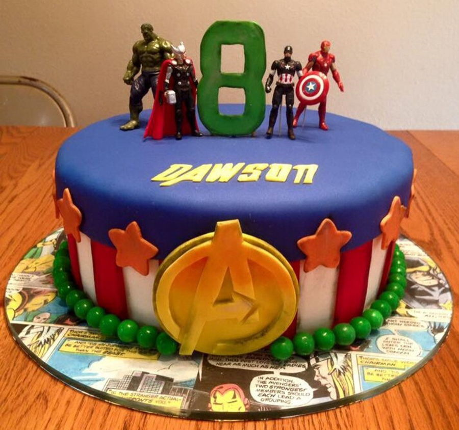 Avenger Birthday Cake on Cake Central