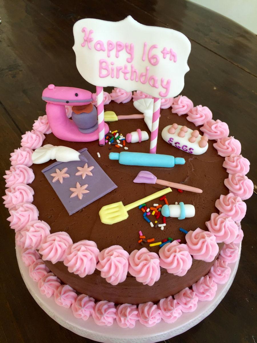 Chef Themed Birthday Cake