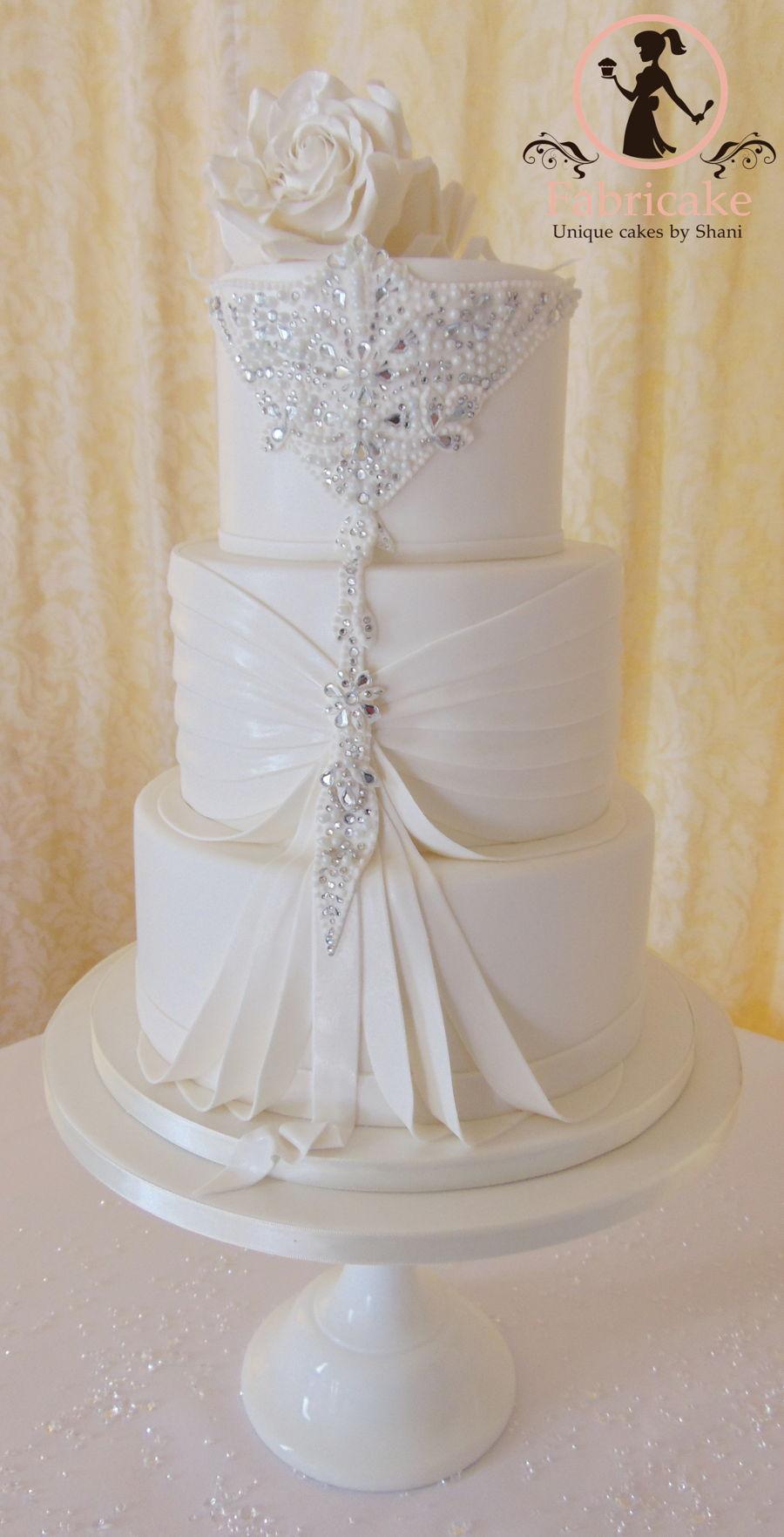 Bling Wedding Cake - CakeCentral.com
