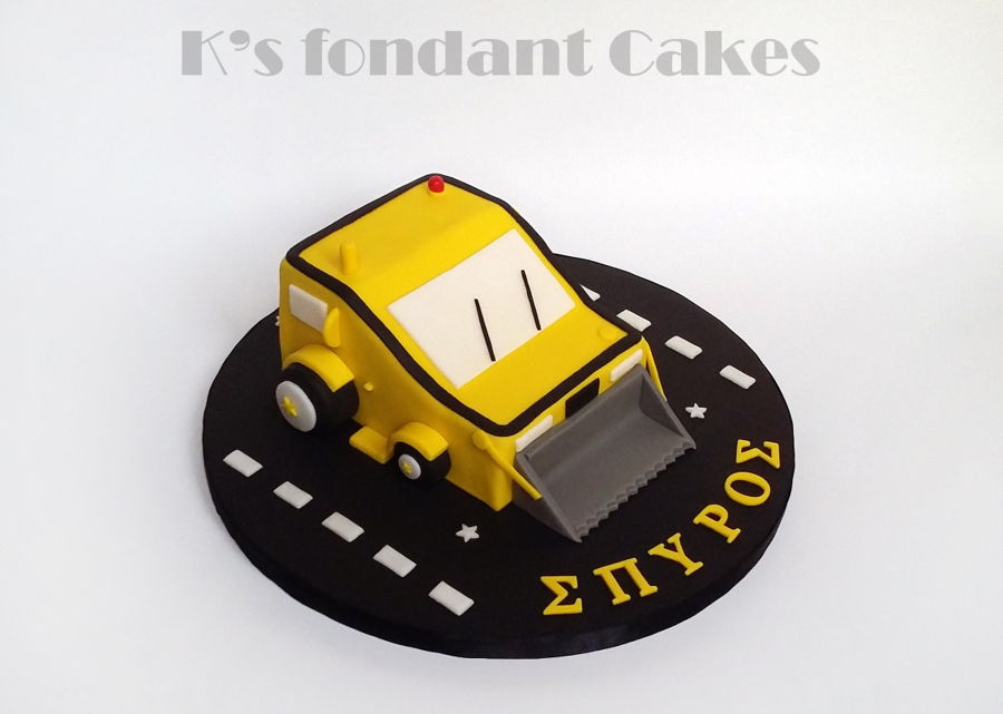 Bulldozer Cake on Cake Central