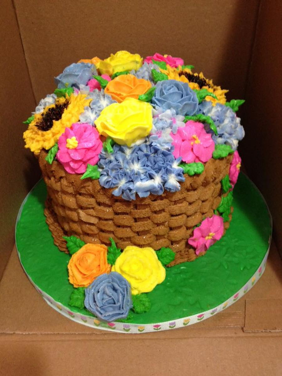Buttercream Flower Basket Cake Cakecentral Com