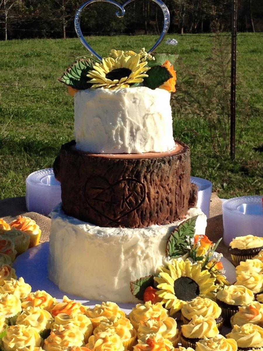 buttercream sunflower wedding cake. Black Bedroom Furniture Sets. Home Design Ideas