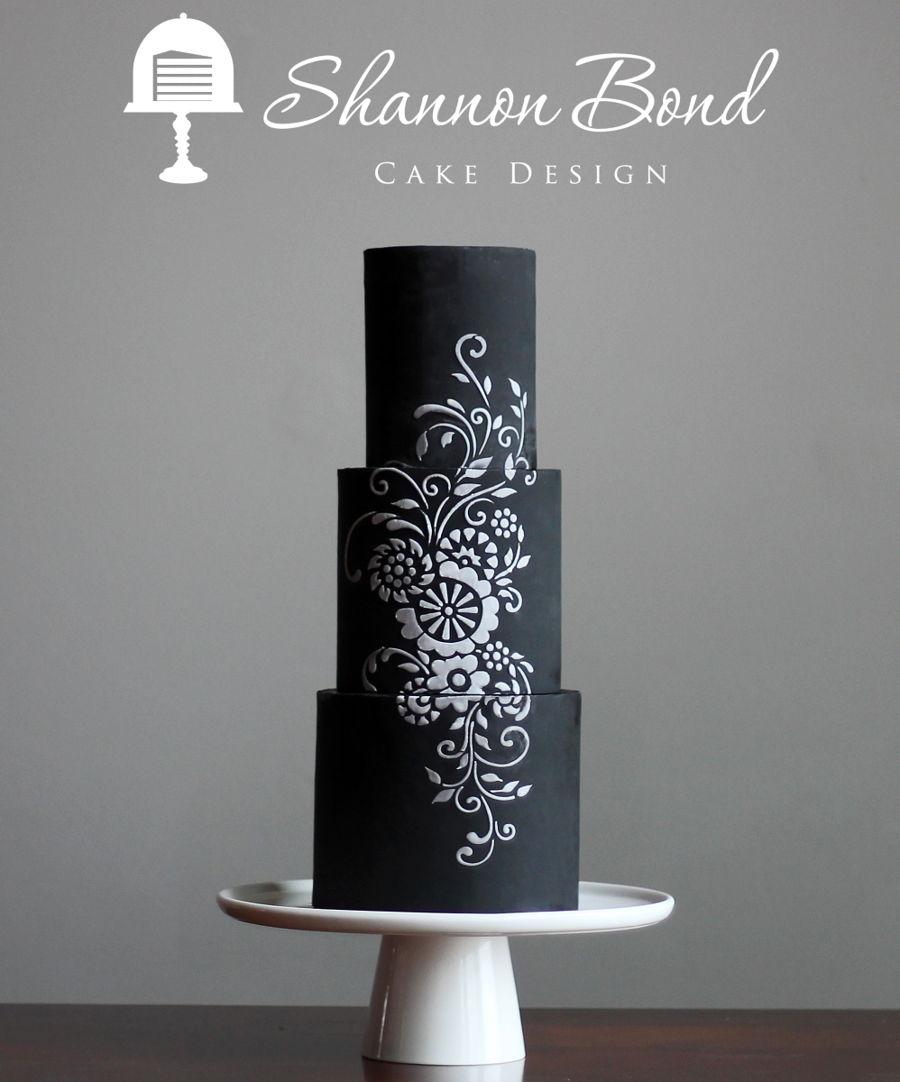 Chalkboard Stencil Cake Cakecentral Com
