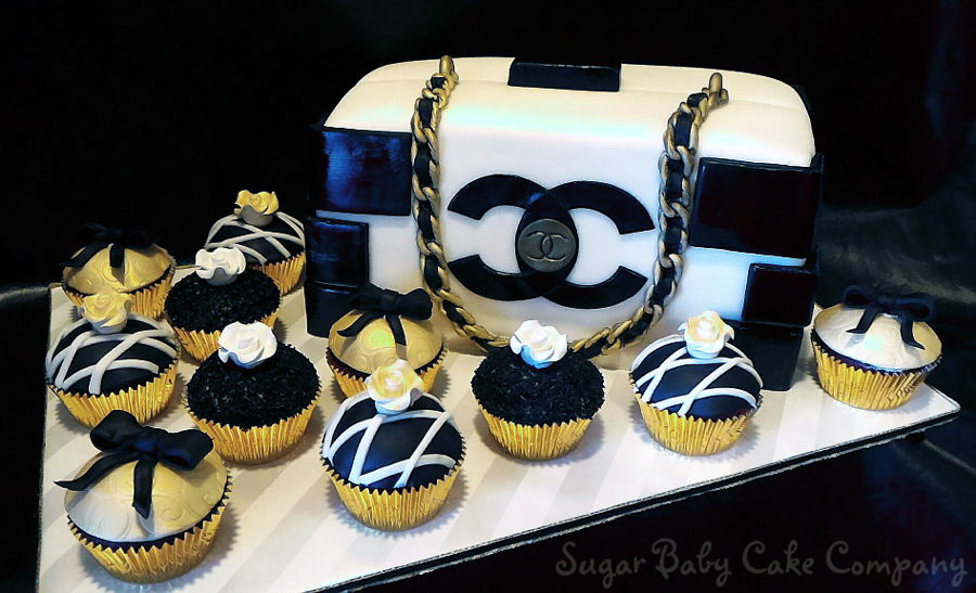 Chanel Purse Cake/cupcakes on Cake Central