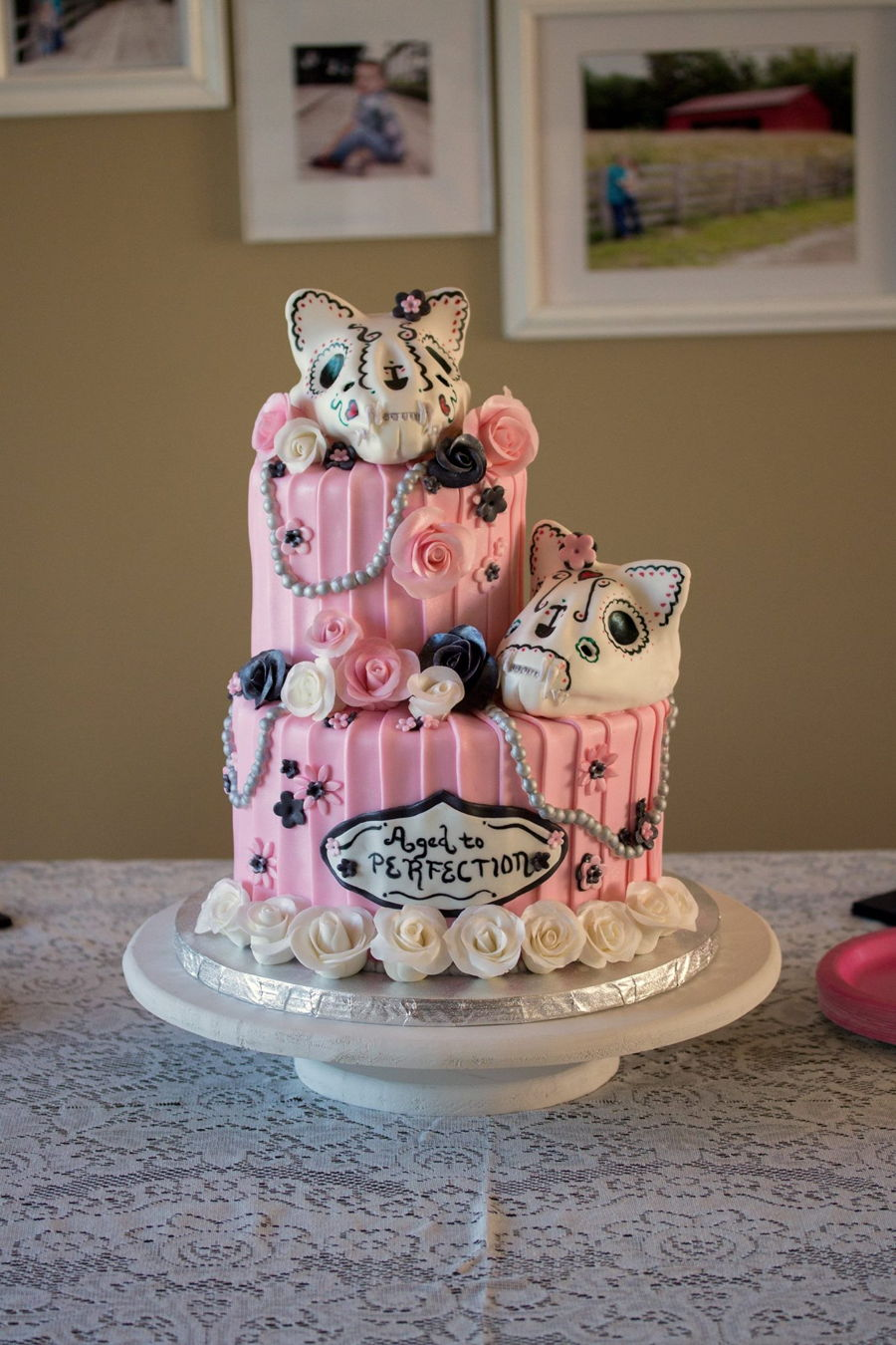 Day Of The Dead Cats 60th Birthday Cakecentral Com