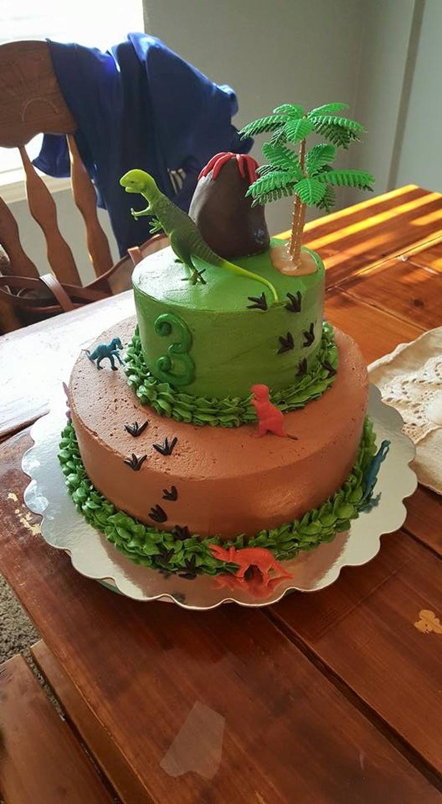 Dinosaur Cake Recipes Pictures : Dinosaur Cake - CakeCentral.com
