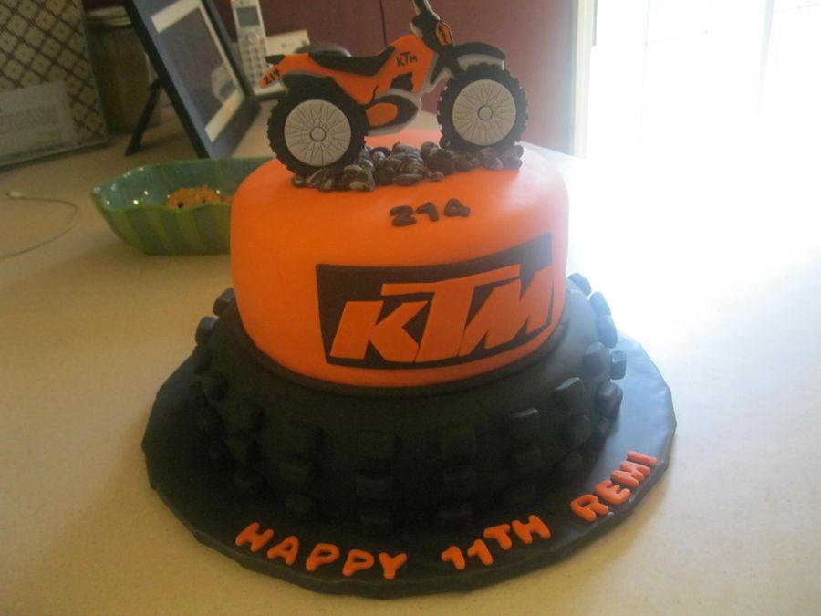 Ktm Dirt Bike Cake Topper