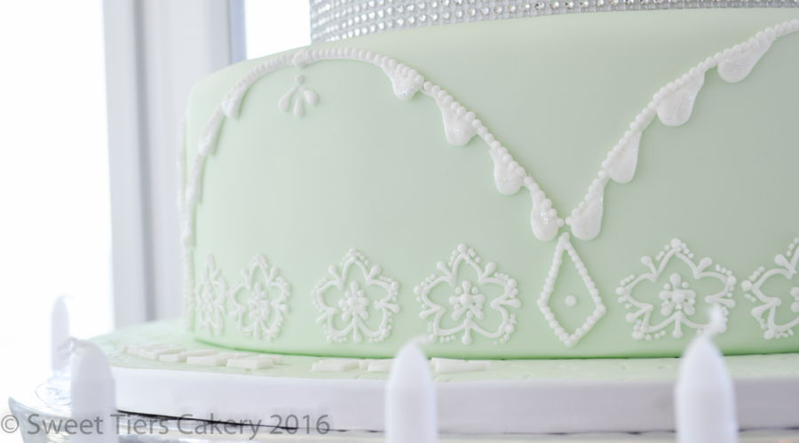A 4 Tier Bat Mitvah Cake Based On Various Techniques By Mich Turner Bottom Was Piped Using The Queen Elizabeth Diamond Pattern Second Is