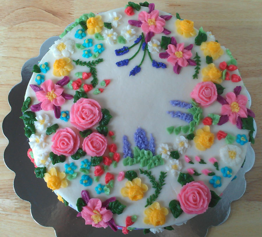 Embroidery Inspired Cake  CakeCentral