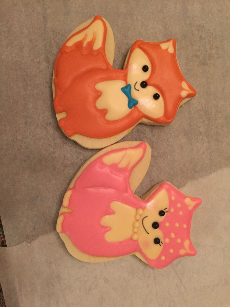 Fox Baby Shower Cookies Cakecentral Com