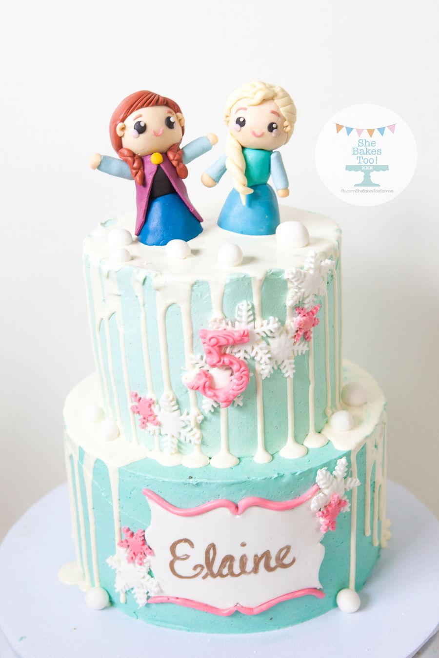 Frozen Themed Chocolate Cake