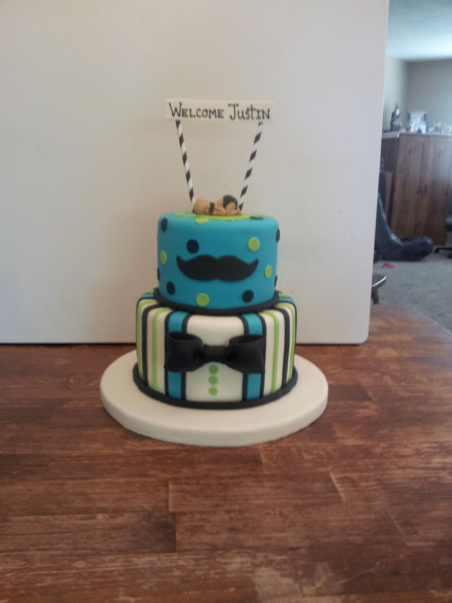 Little Man Baby Shower Cake on Cake Central