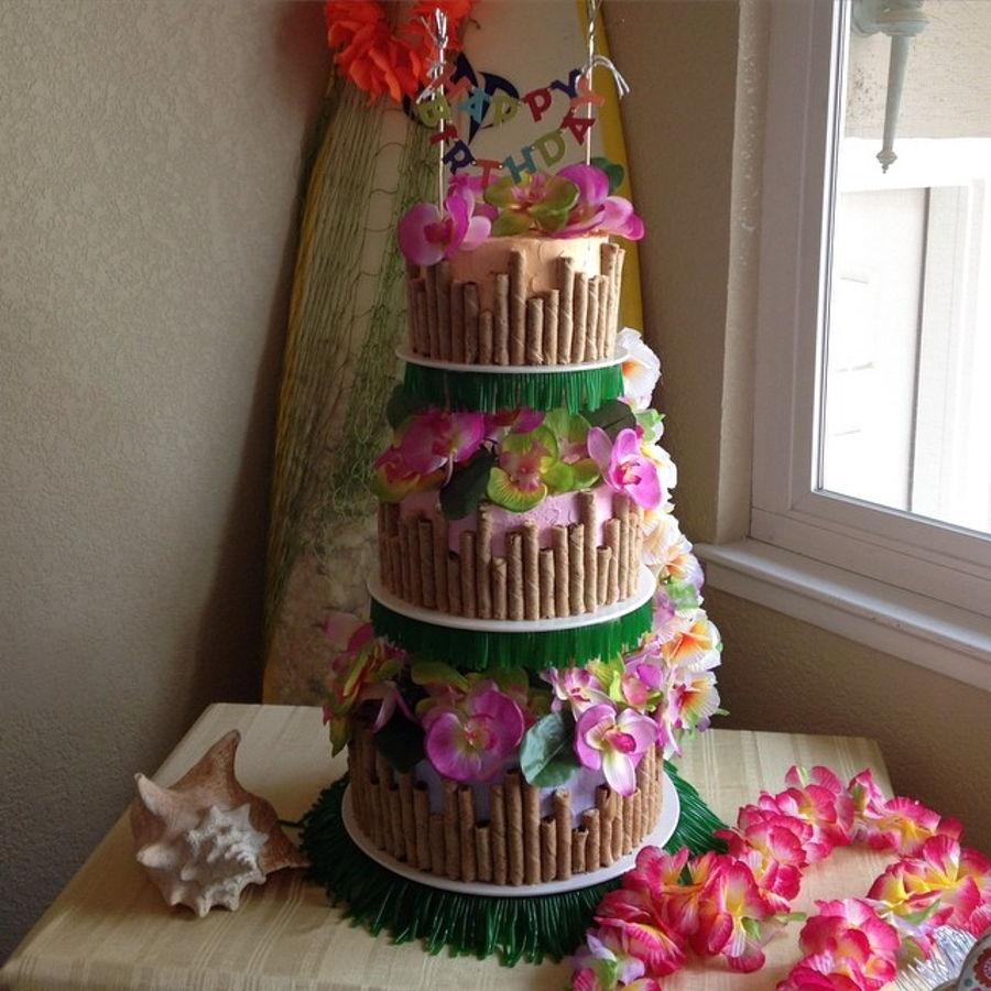 Fabulous Luau Birthday Cake Cakecentral Com Funny Birthday Cards Online Inifodamsfinfo
