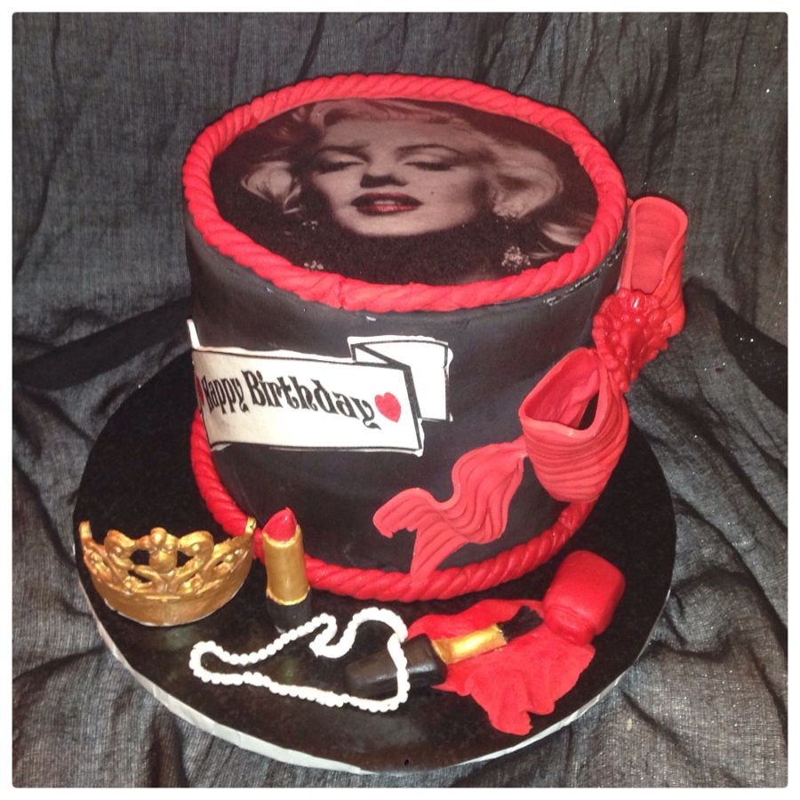 Super Marilyn Monroe Birthday Cake Cakecentral Com Personalised Birthday Cards Paralily Jamesorg