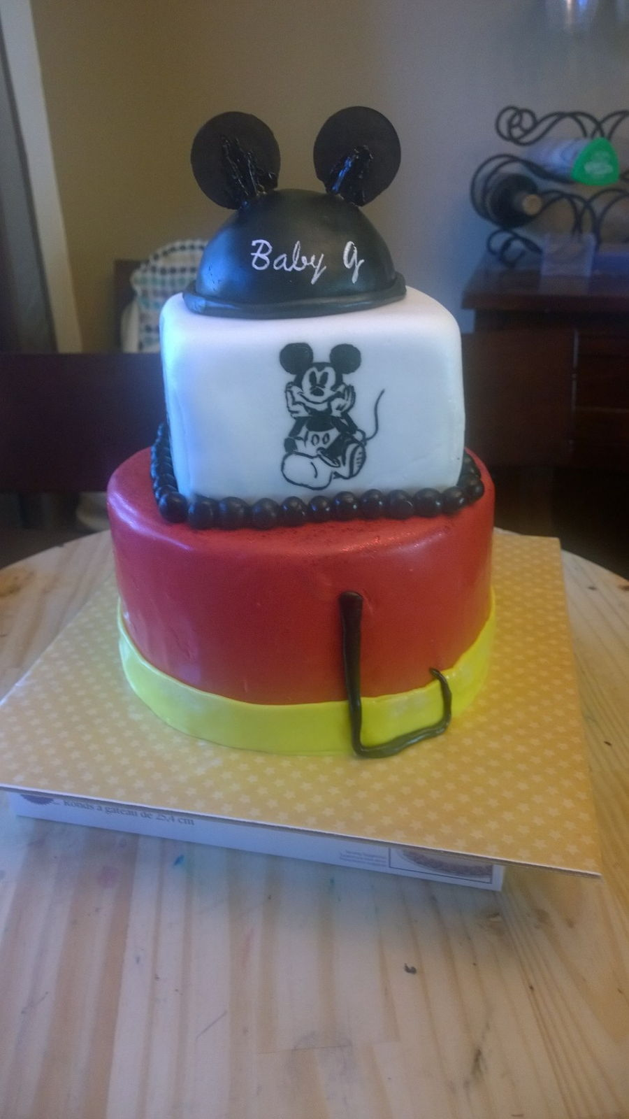 Mickey Mouse Baby Shower Cake Cakecentral Com