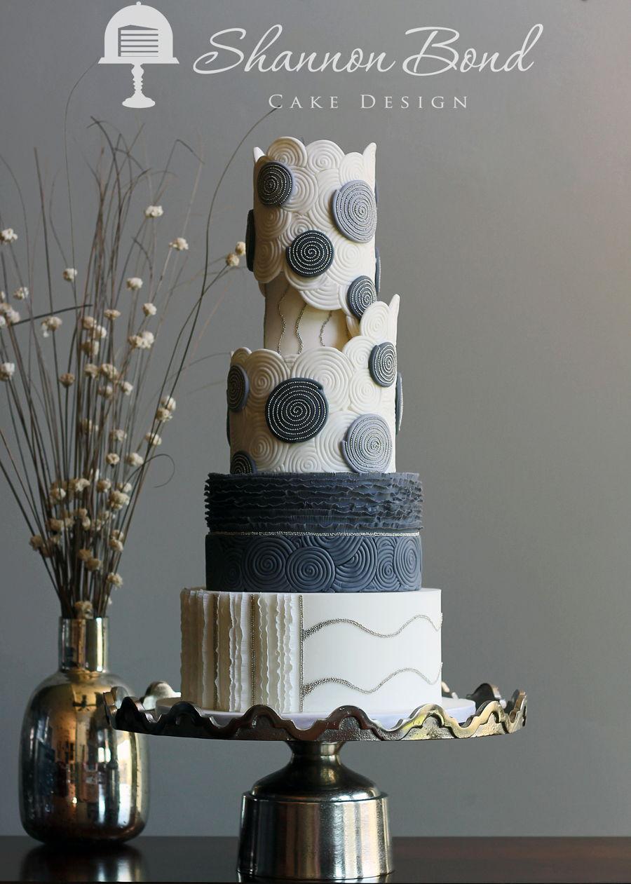 Geometric Cake Stencil