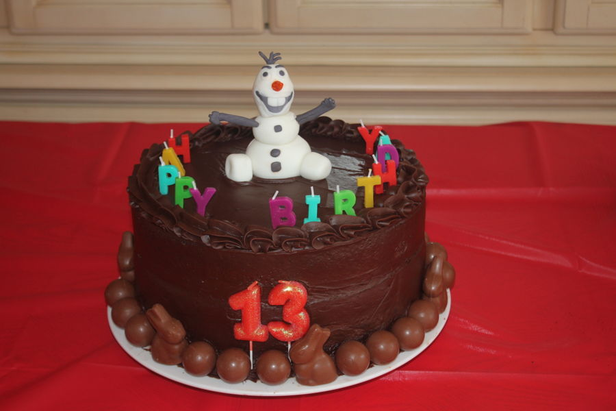 Olaf Chocolate Cake on Cake Central