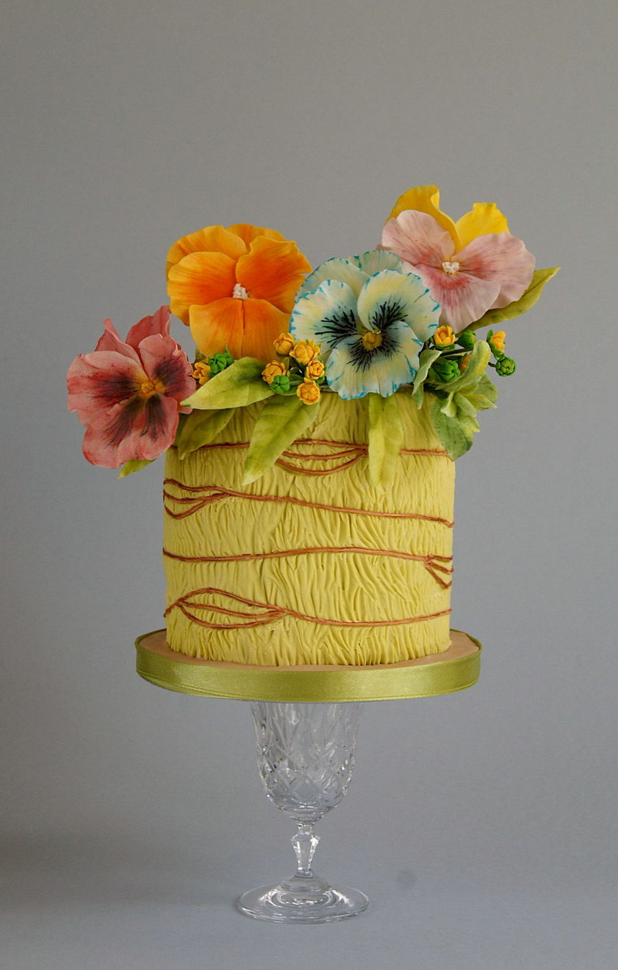 Pansies on Cake Central