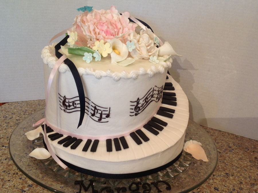 Piano Birthday Cake on Cake Central