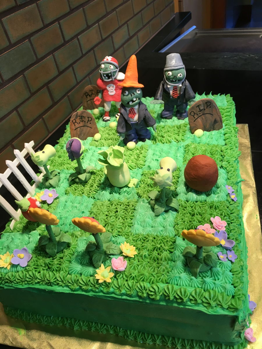 Plants Vs Zombies Garden Warfare Birthday Cake