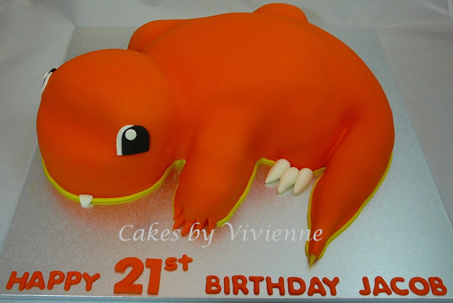 Phenomenal Pokemon Charmander 21St Birthday Cake Cakecentral Com Funny Birthday Cards Online Elaedamsfinfo
