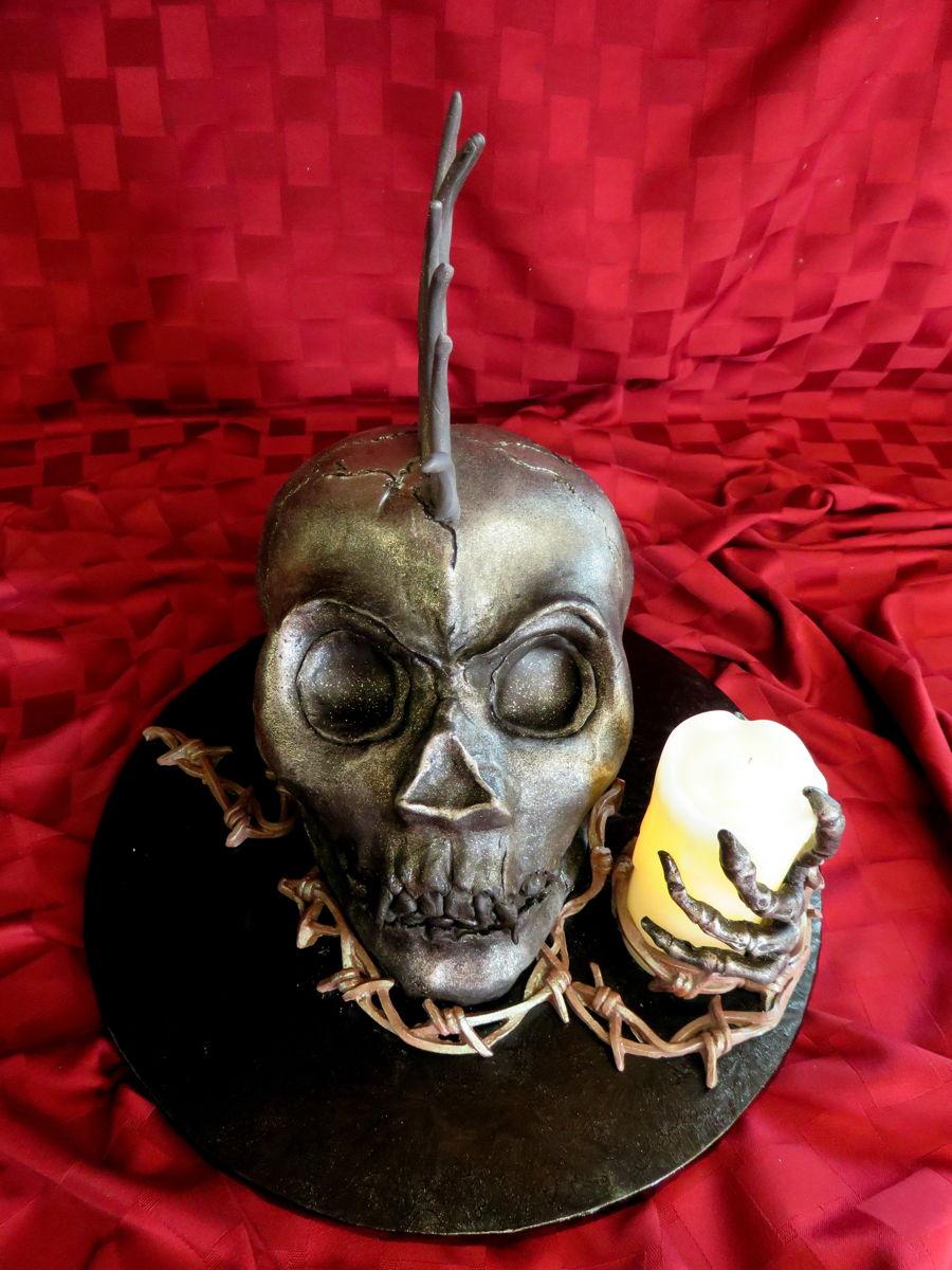 Punk Rock Skull Birthday Cake Cakecentral Com