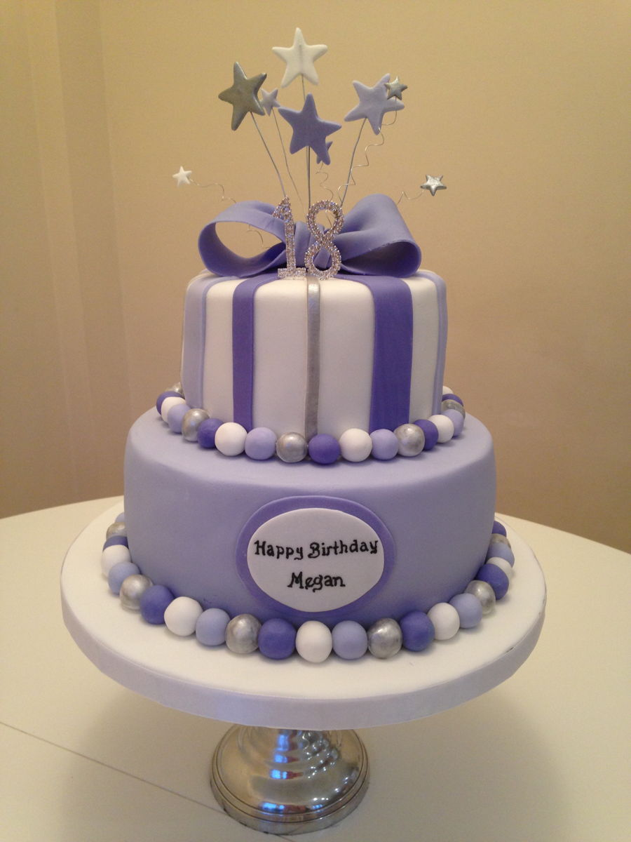 Purple And Lavender Birthday Cake Cakecentral