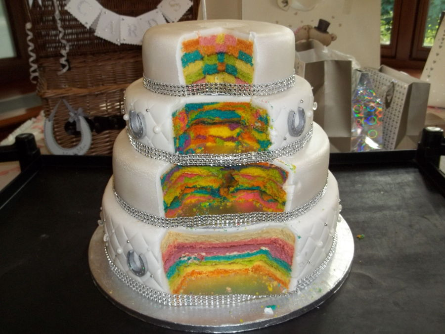 Rainbow Wedding Cake CakeCentralcom