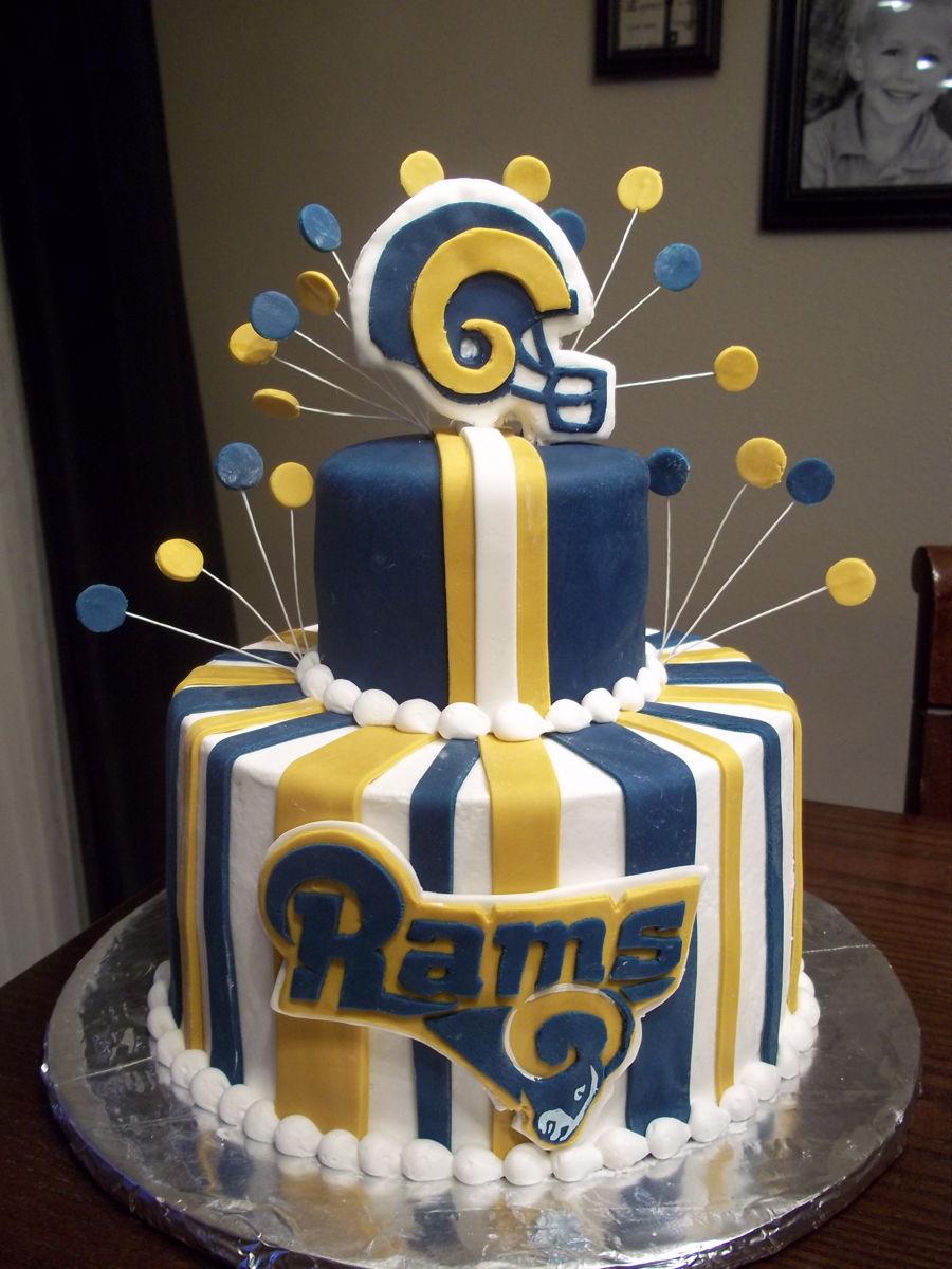 Blue St Birthday Cake